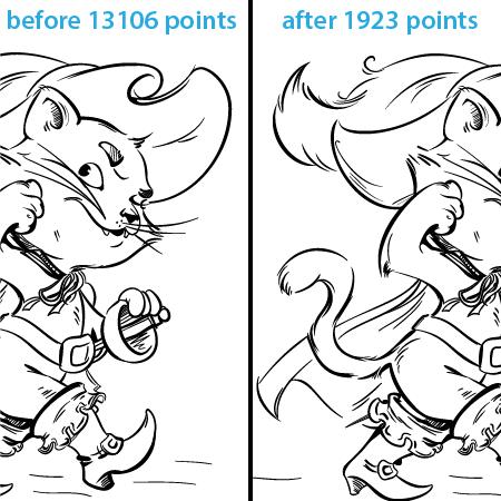 trước và sau khi sử dụng plug-in